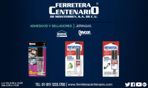 adhesivos selladores jeringa ferreteracentenairo monterrey mexico