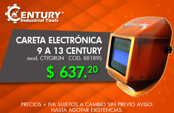 careta electronica ferretera centenario monterreycentury industrial tools
