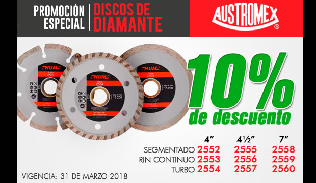 autromex discos diamante promocion ofertas ferretera centenario monterrey mexico abrasivos