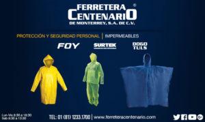 impermeables equipos seguridad proteccion personal ferretera cenrtenario monterrey mexico