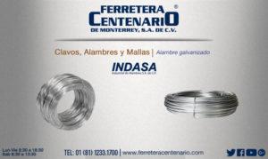 alambre galvanizado ferretera centenario monterrey mexico