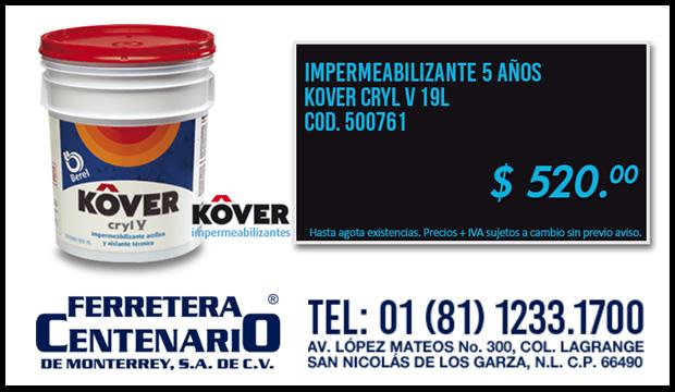 impermeabilizantes kover cryl ferretera centenario monterrey mexico