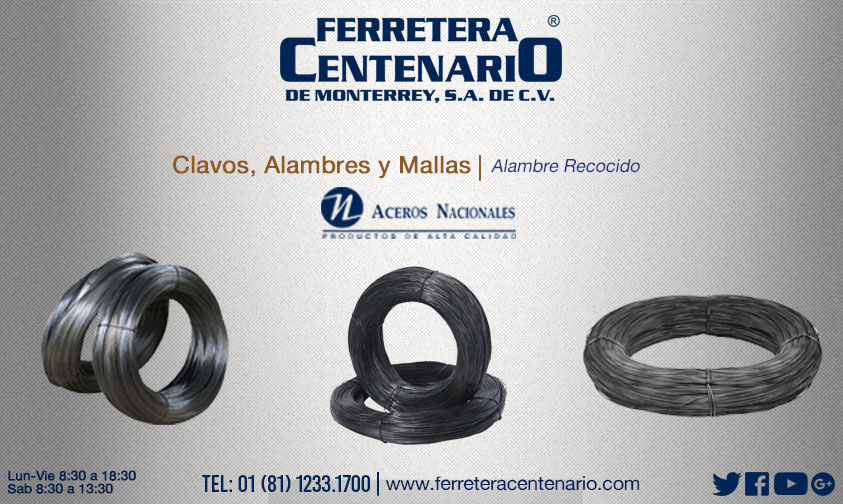alambre recocido ferretera centenario monterrey mexico