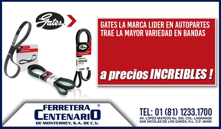 bandas marca gates ferretera centenario monterrey mexico