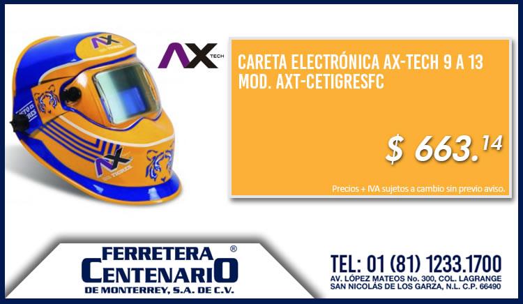 careta electronica ax-tech 9 a 13 ferretera centenario monterrey mexico