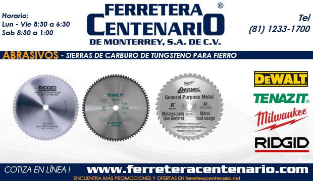 Sierras Carburo Tungsteno para fierro ferretera centenario monterrey mexico abrasivos