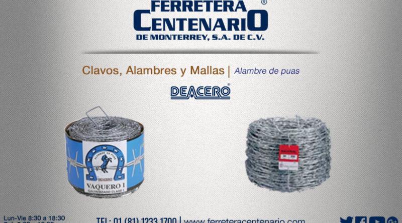 alambre puas mallas clavos ferretera centenario monterrey mexico