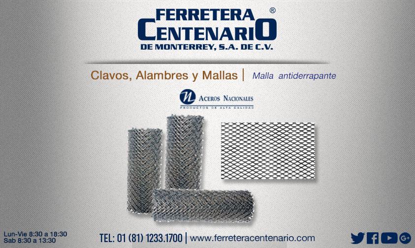 malla antiderrapante vlavos aceros ferretera centenario monterrey mexico