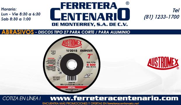 disco corte aluminio 27 ferretera centenario monterrey mexico