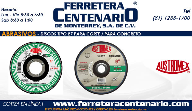 discos 27 corte concreto ferretera centenario monterrey mexico abrasivos