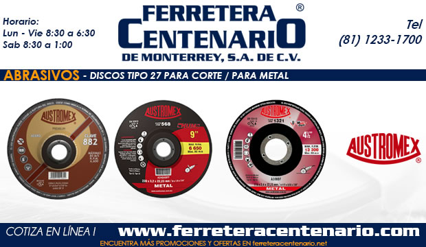 discos 27 corte metal ferretera centenario monterrey mexico abrasivos