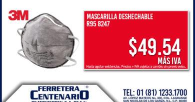 mascarilla desechable 3M ferretrea centenario monterrey mexico