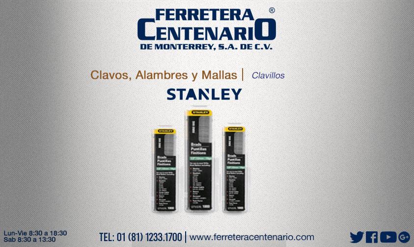 clavillos stanley ferretera centenario monterrey mexico clavos