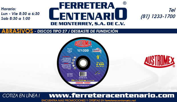 Tipo 27 Fundicion » Tienda de Herramientas - Ferretera Centenario - La Ferretería más grande de Monterrey