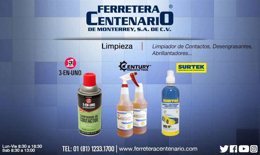 limpiadores quimicos desengrasantes abrillantadores ferretera centenario monterrey mexico