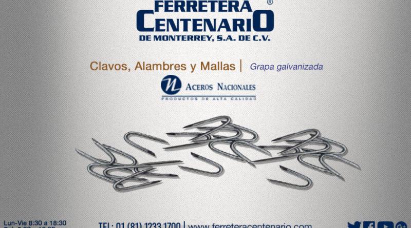 grapa galavanizada » Tienda de Herramientas - Ferretera Centenario - Ferretería de Monterrey