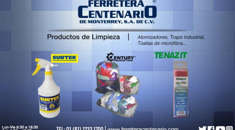 productos de limpieza trapo industrial atomizadores toallas microfibra ferretera centenario monterrey mexico