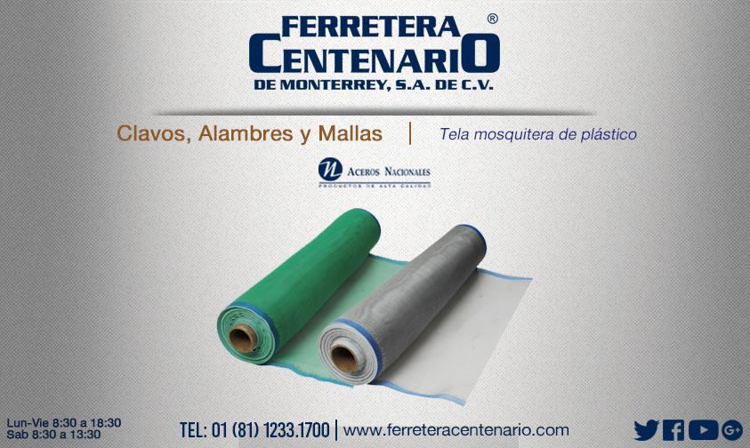 mosquitero plastico malla tela ferretera centenario monterrey mexico