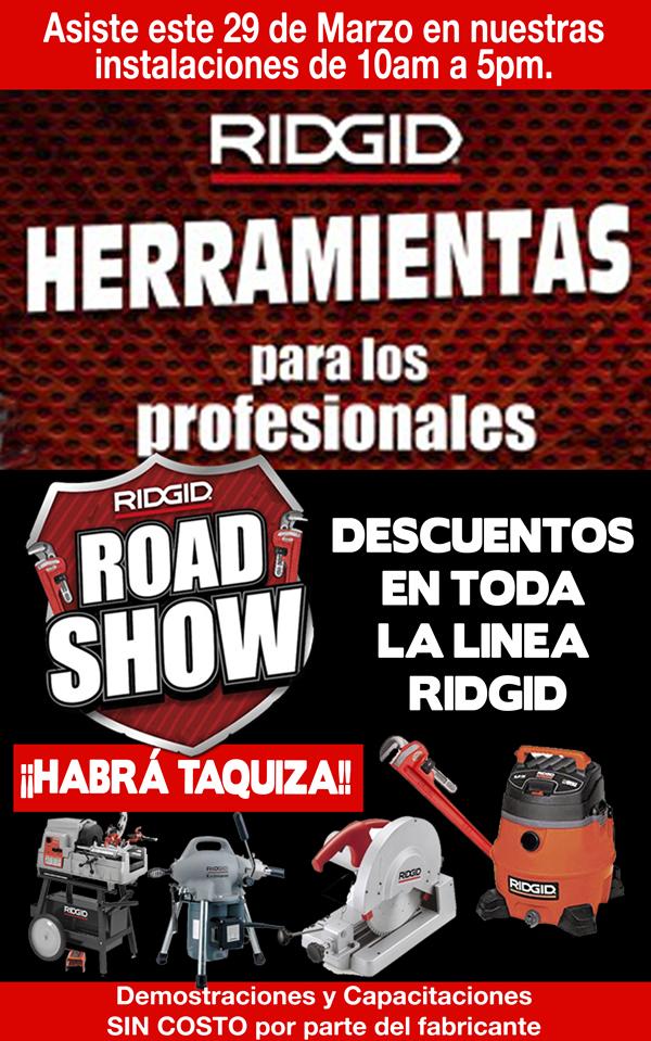 RIDGID Road Show presente en Ferretera Centenario