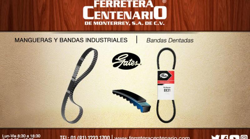 bandas dentadas industriales ferretera centenario monterrey mexico mangueras