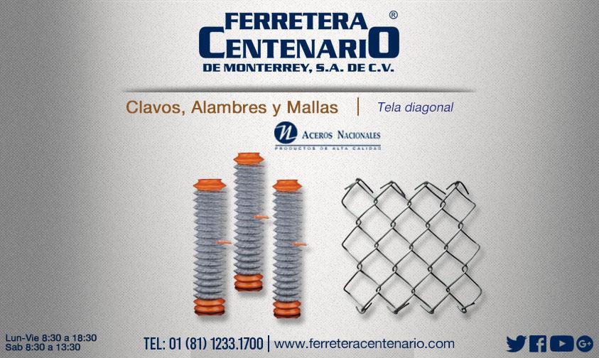 tela diagonal malla alambres ferretera centenario monterrey mexico aceros nacionales