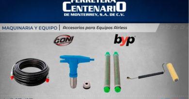 maquinaria equipos accesorios airless ferretera centenario monterrey mexico
