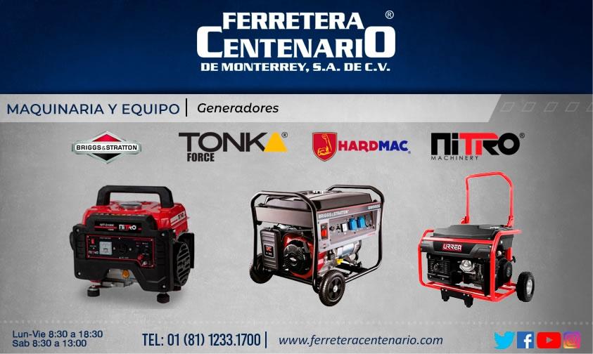 generadores maquinas equipos tonk force briggs&straton hardmac nitro machinery ferretera centenario monterrey mexico