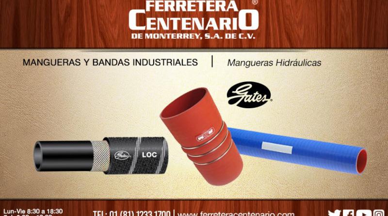 mangueras hidráulicas gates ferretera centenario monterrey mexico bandas industriales