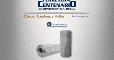 tela malla hexagonal Aceros Nacionales ferretera centenario monterrey mexico