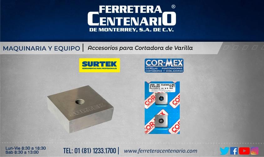 accesorios cortadora varilla maquinas equipos ferretera centenario monterrey mexico surtek Cor-mex