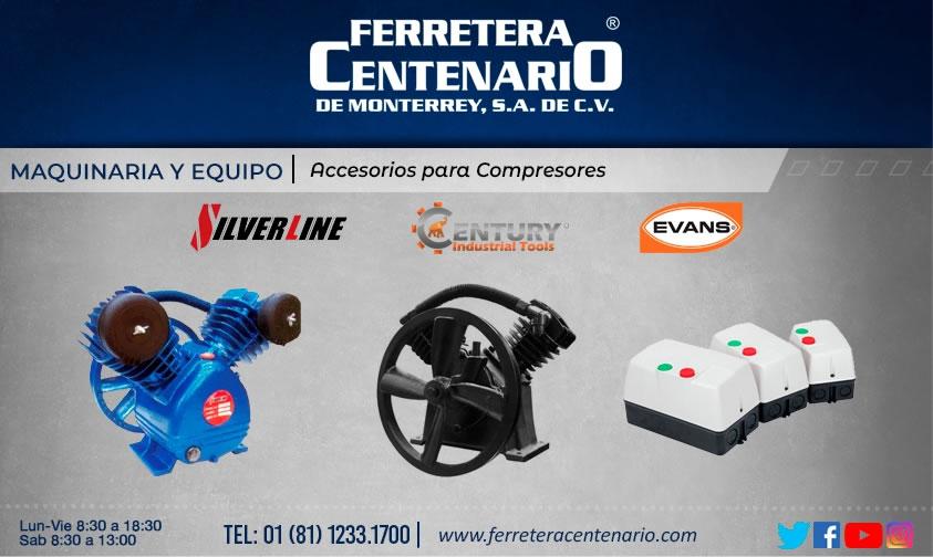 accesorios compresores evans century industrial tools maquinaria equipos silverline ferretera centenario monterrey mexico