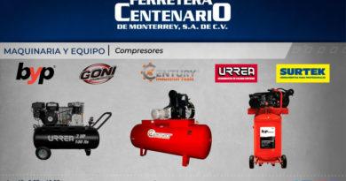 compresores maquinaria equipos ferretera centenario monterrey mexico urrea surtek goni byp century industrial tools