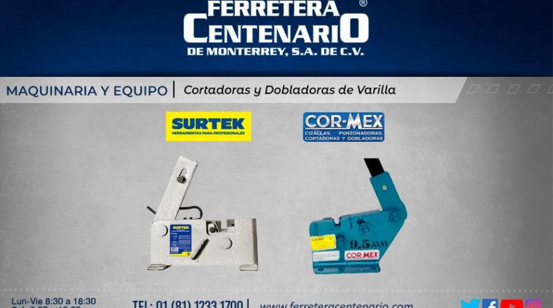 cortadora dobladora varilla maquinaria equipos ferretera centenario monterrey mexico Surtek Cor-Mex CorMex