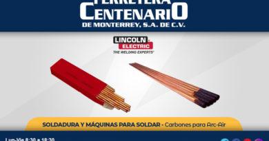 carbones arc-air ferretera centenario monterrey mexico soldadura maquinas soldar lincoln electric