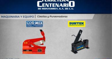 cizallas punzonadoras ferretera centenario monterrey mexico maquinaria equipos cormex surtek