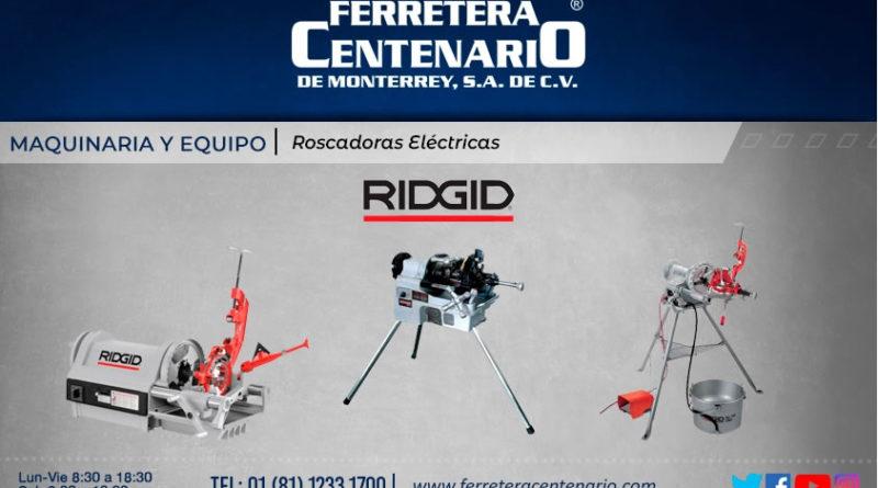 Roscadoras electricas ridgid ferretera centenario monterrey mexico maquinas maquinaria equipos