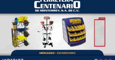exhibidires mercadeo herramientas ferreteria ferretera centenario monterrey mexico