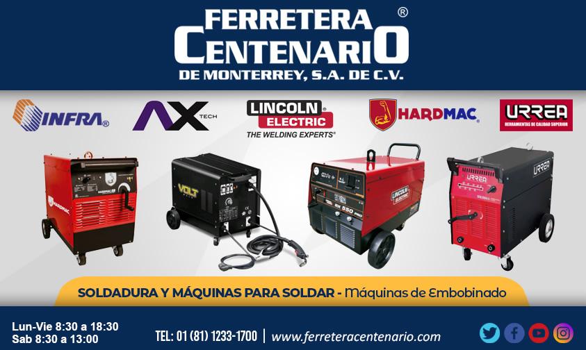 maquinas embobinado soldadura soldar Infra AX Tech Lincoln Electric Hardmac Urrea ferretera centenario monterrey mexico