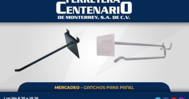 ganchos panel mercadeo accesorios ferretera centenario monterrey mexico
