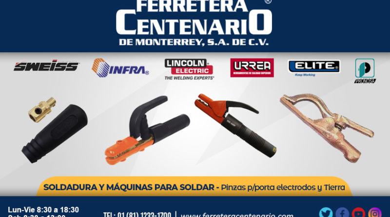 pinzas herramientas portaelectrodos Tierra ferretera centenario monterrey mexico sweiss infra lincoln electric urrea elite