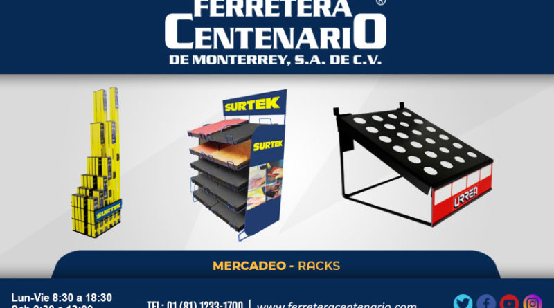 racks mercadeo herramientas ferretera centenario monterrey mexico