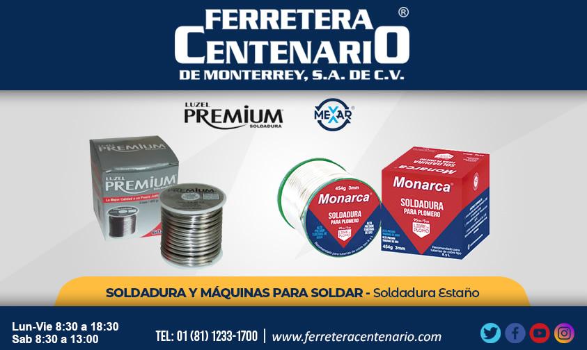 soldadura soldar herramientas estaño Mexar Luzel Premium maquinas para soldar ferretera centenario monterrey mexico