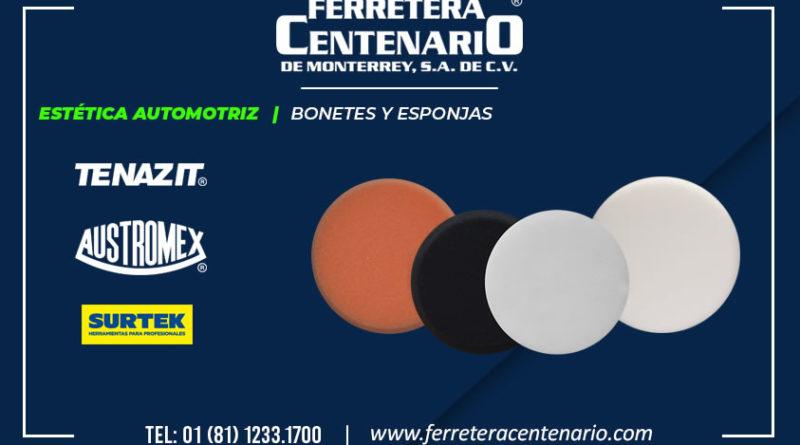 estetica automotriz ferretera centenario de monterrey mexico bonetes esponjas limpieza autos Tenazit Austromex Surtek