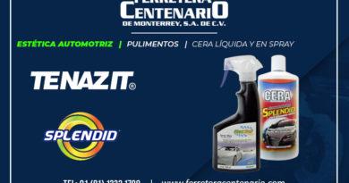 cera liquida spray estetica automotriz Tenazit Splendid ferretera centenario monterrey mexico