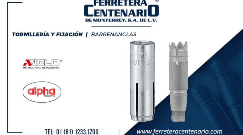 barrenanclas fijacion tornilleria
