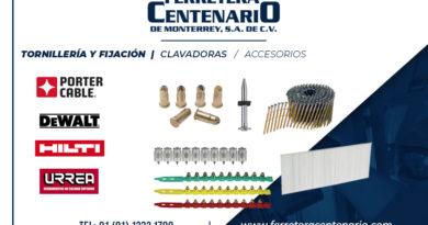 clavadoras tornilleria fijacion ferretera centenario monterrey mexico