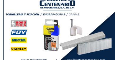 grapas engrapadoras tornilleria fijacion ferretera centenario monterrey mexico