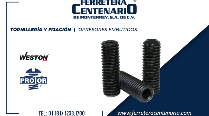 tornilleria fijacion opresores embutidos tornillos ferretera centenario monterrey mexico